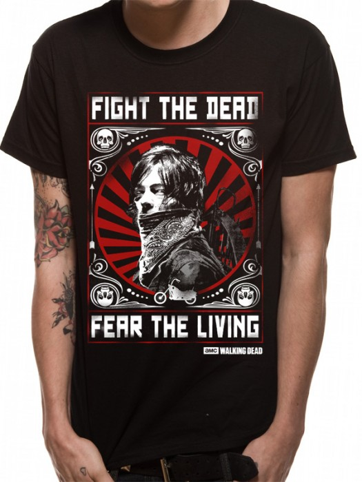 WALKING DEAD T SHIRT Official Merchandise WALKING DEAD - FEAR THE DEAD (UNISEX) Black t-shirt