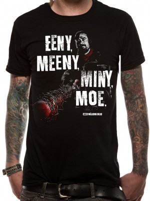 WALKING DEAD T SHIRT Official Merchandise WALKING DEAD - EENY MEENY (UNISEX) Black t-shirt