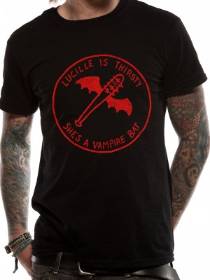 WALKING DEAD  T SHIRT Official Merchandise WALKING DEAD - VAMPIRE BAT (UNISEX)   Black t-shirt