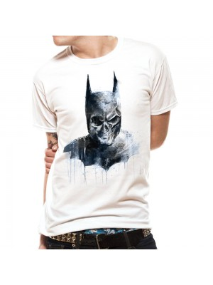 BATMAN T SHIRT Official Merchandise BATMAN - GOTHIC SKULL White t-shirt