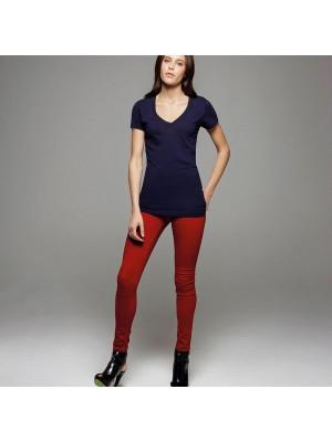 Plain V-Neck T-Shirt  Tissue Jersey Deep Bella 100 GSM