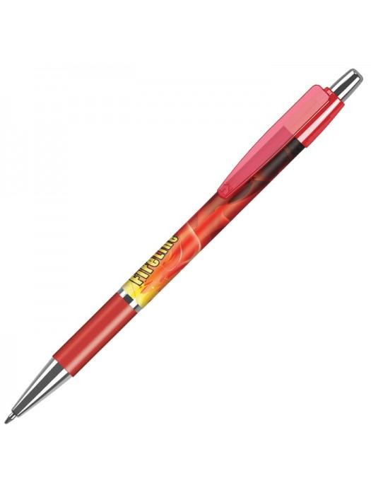 Plastic Pen Fusion Elite Grip Transparent Pen Retractable Penswith ink colour Black