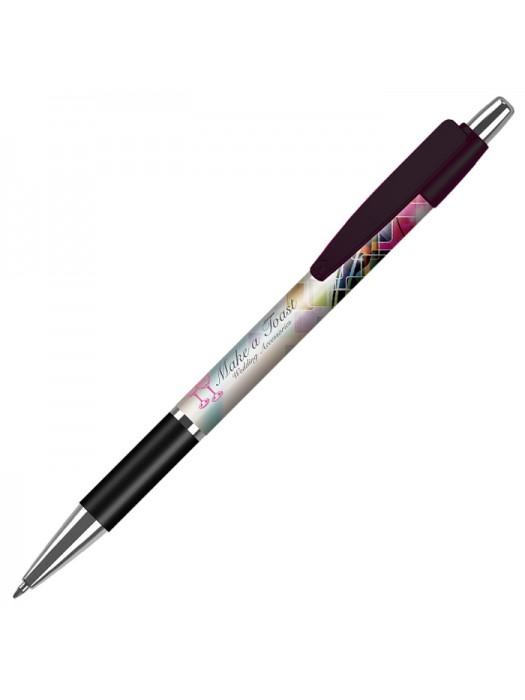 Plastic Pen Fusion Elite Grip Solid Pen Retractable Penswith ink colour Black