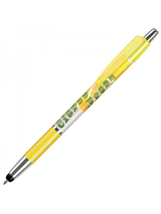 Plastic Pen Fusion Stylus Elite Grip Solid Pen Retractable Penswith ink colour Black