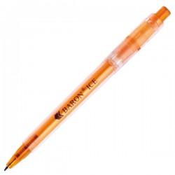 Plastic Pen Baron Ice Retractable Penswith ink colour Blue Refill