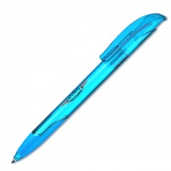 Plastic Pen Challenger Soft Clear Retractable Penswith ink colour Blue Refill