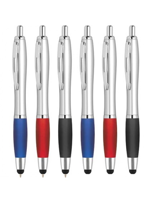 Plastic Pen Contour Stylus BallPen Retractable Penswith ink colour Black