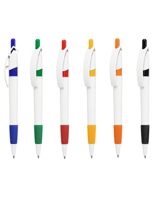 Plastic Pen POINT Soft Retractable Penswith ink colour Blue/Black