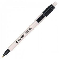 Plastic Pen Baron Colour Retractable Penswith ink colour Blue Refill