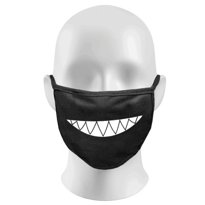 Evil Smile Print Funny Face Masks Protection Against Droplets & Dust