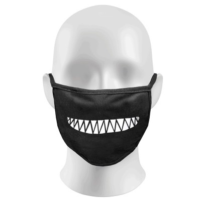 Creepy smile teeth Print Funny Face Masks Protection Against Droplets & Dust