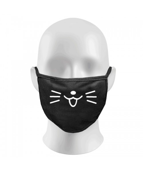 CAT Print Funny Face Masks Protection Against Droplets & Dust