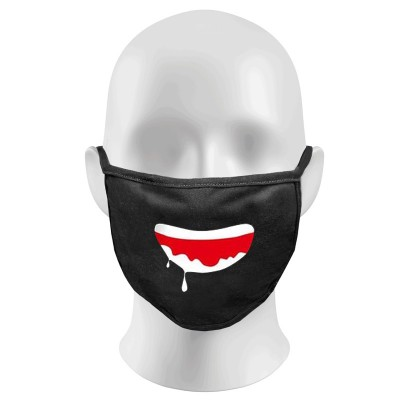 Watery Mouth Print Funny Face Masks Protection Against Droplets & Dust