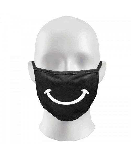 Smile Print Funny Face Masks Protection Against Droplets & Dust