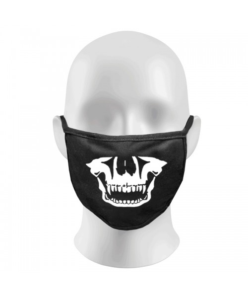 Skull Print Funny Face Masks Protection Against Droplets & Dust