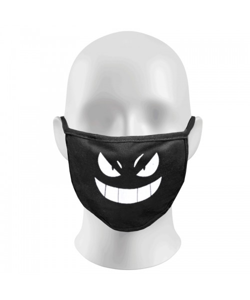 Devil Face Print Funny Face Masks Protection Against Droplets & Dust