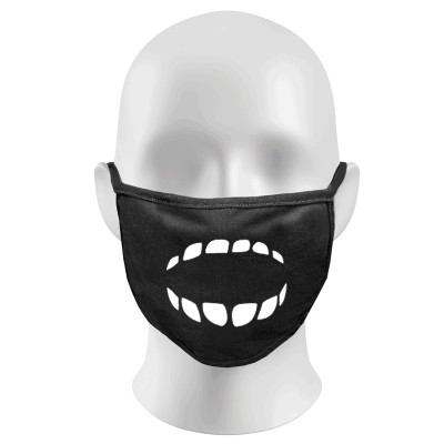Screaming Teeth Print Funny Face Masks Protection Against Droplets & Dust
