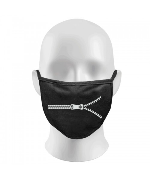 Zip Print Funny Face Masks Protection Against Droplets & Dust