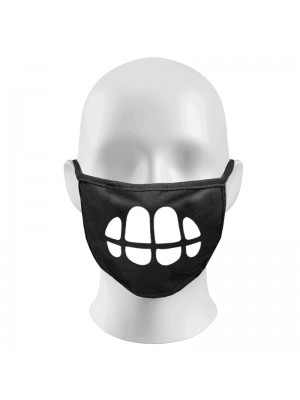 Big Teeth Print Funny Face Masks Protection Against Droplets & Dust