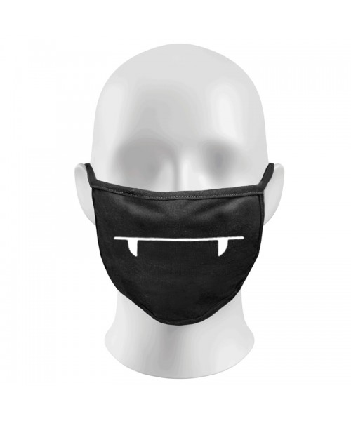 DRACULLA TEETH Print Funny Face Masks Protection Against Droplets & Dust