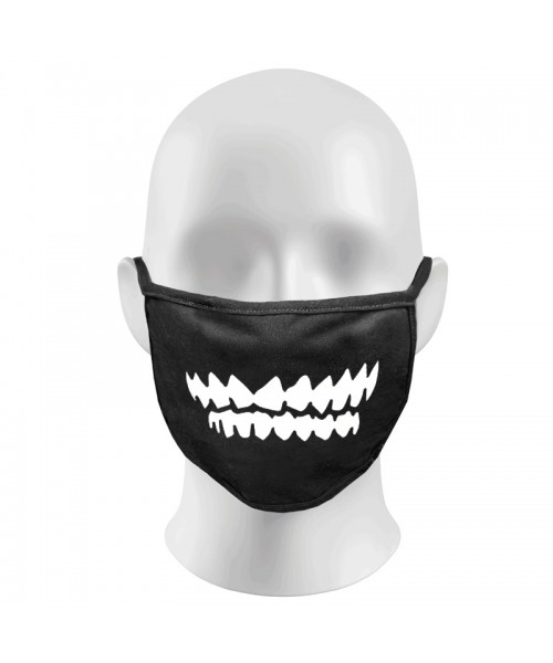 Angry Teeth Print Funny Face Masks Protection Against Droplets & Dust