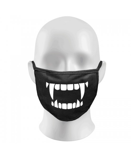 Creepy Vampire teeth Print Funny Face Masks Protection Against Droplets & Dust
