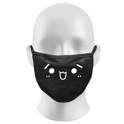 Cartoon Print Funny Face Masks Protection Against Droplets & Dust