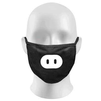 PIG Print Funny Face Masks Protection Against Droplets & Dust