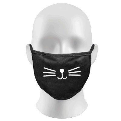 CAT FACE Print Funny Face Masks Protection Against Droplets & Dust