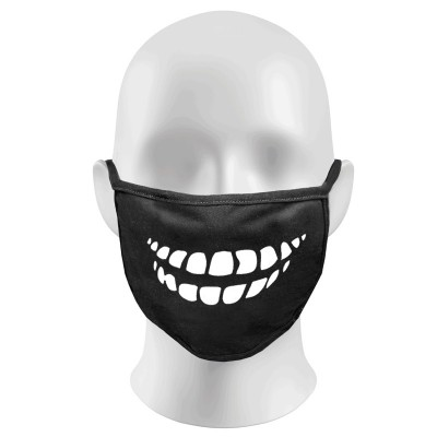 Laughing Teeth Print Funny Face Masks Protection Against Droplets & Dust