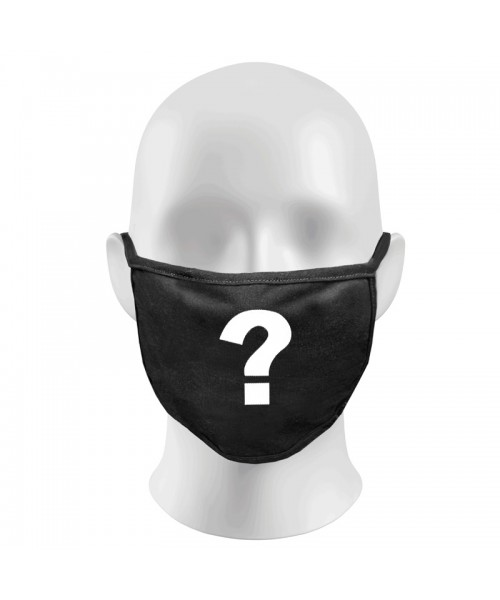Question Mark Print Funny Face Masks Protection Against Droplets & Dust