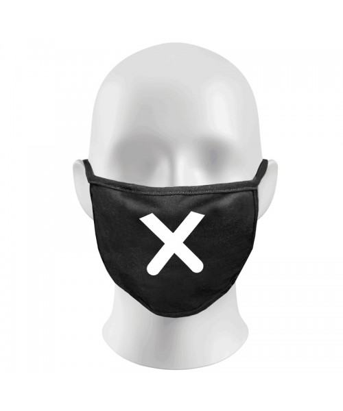 Cross Print Funny Face Masks Protection Against Droplets & Dust