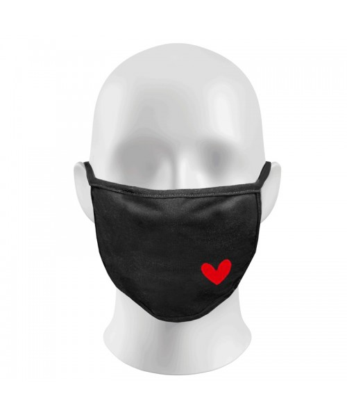 RED HEART Print Funny Face Masks Protection Against Droplets & Dust