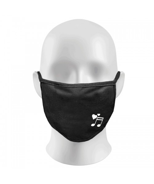 MUSIC NOTES Print Funny Face Masks Protection Against Droplets & Dust