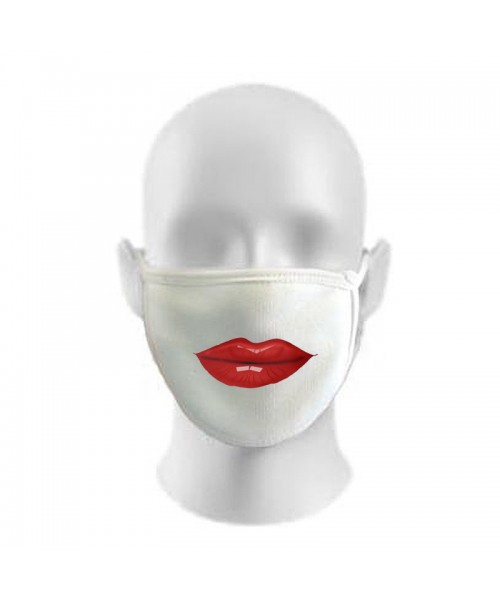 LIPS Print Funny Face Masks Protection Against Droplets & Dust