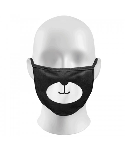 Bear Print Funny Face Masks Protection Against Droplets & Dust