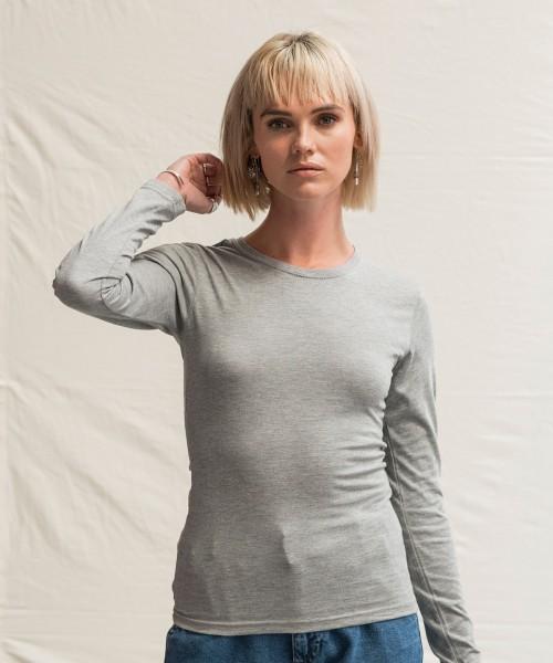 Plain Women's triblend T long sleeve T-shirts AWDIS JUST T'S 160 GSM