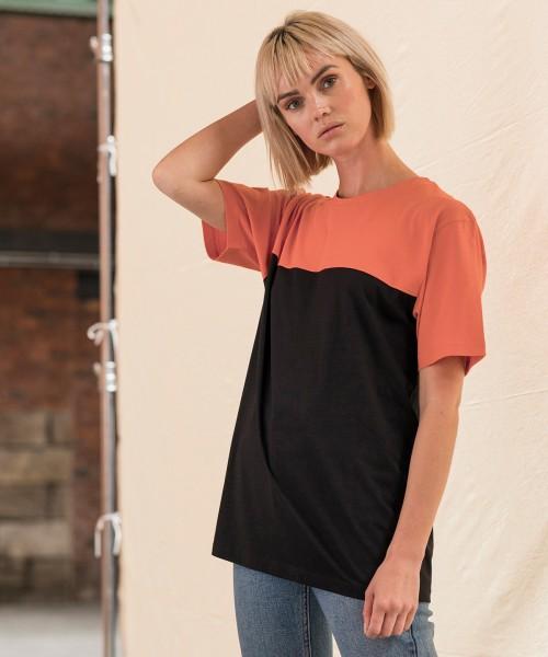 Plain Colour block T T-shirts AWDIS JUST T'S 140 GSM