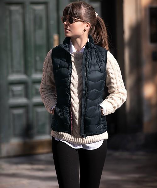 Plain Woman's Vermont down gilet Jackets Nimbus Shell: 35. Lining: 30 GSM