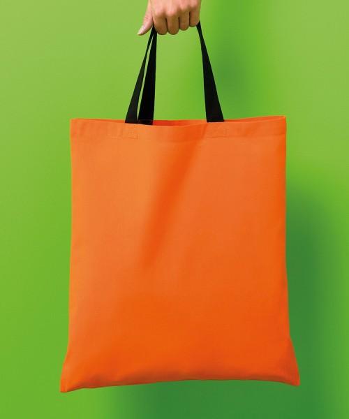 Plain Varsity cotton shopper short handle Bags Nutshell® 140 GSM