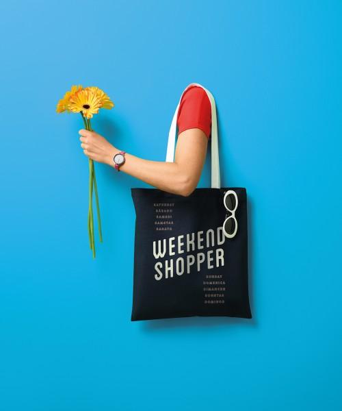 Plain Varsity cotton shopper long handle Bags Nutshell® 140 GSM