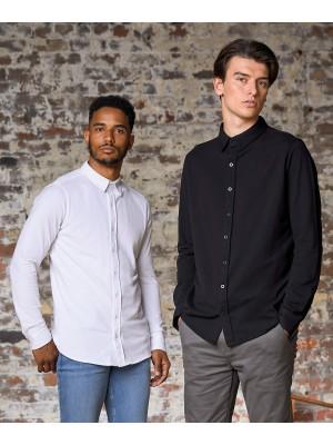 Plain Oscar knitted shirt Shirts AWDis So Denim 190 GSM