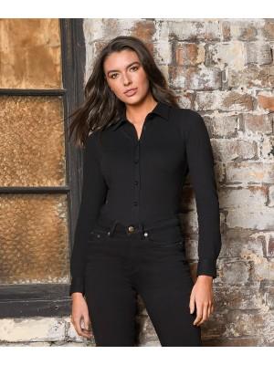 Plain Women's Anna knitted shirt Shirts AWDis So Denim 190 GSM