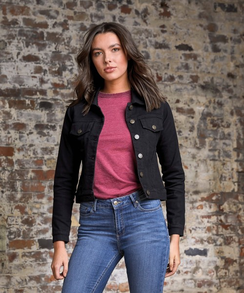 Plain Women's Olivia denim jacket Jackets AWDis So Denim 10.5oz GSM