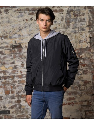 Plain Frankie bomber jacket Jacket AWDis So Denim  GSM