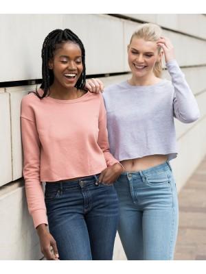 Plain Women's cropped sweat Sweatshirts AWDis Just Hoods 280 GSM