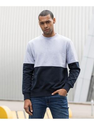 Plain Colour block sweat Sweatshirts AWDis Just Hoods 280 GSM