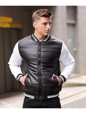 Plain Varsity puffer jacket Jacket AWDis Just Hoods 80 GSM