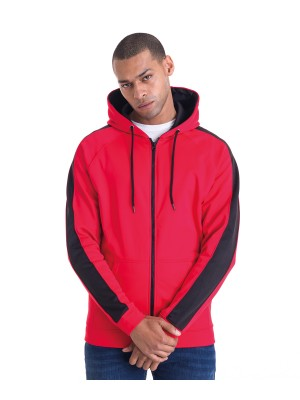 Plain Sports polyester zoodie Zoodies AWDis Just Hoods 200 GSM