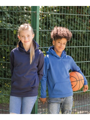Plain Kids sports polyester hoodie Hoodies AWDis Just Hoods 200 GSM